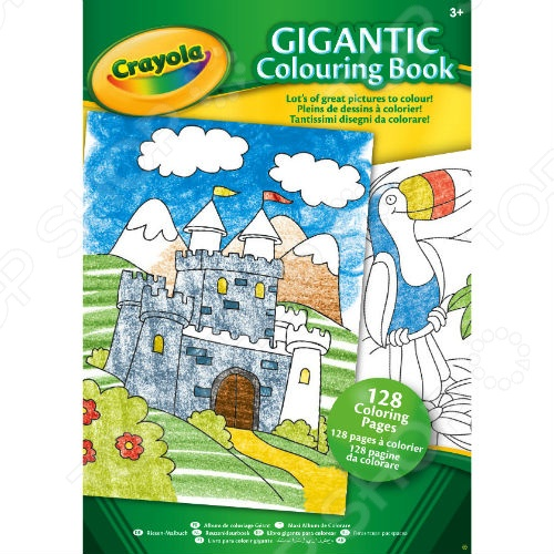 Раскраска Crayola «Gigantic» раскраска crayola color wonder принцессы 12785