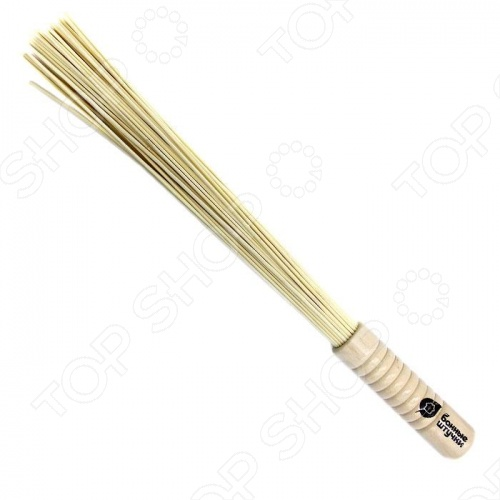 Веник массажный бамбуковый Банные штучки малый