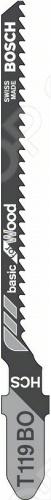 Набор пилок для лобзика Bosch T 119 ВО HCS пилка для лобзика bosch 2609256746 2609256746