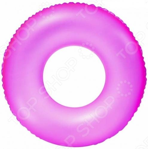 Товар продается в ассортименте. Цвет изделия при комплектации заказа зависит от наличия цветового ассортимента товара на складе. Надувной круг Bestway 36024 выполнен в яркой расцветке и его легко заметить на воде даже ночью, так как он неоновый. Его диаметр составляет 76 см.