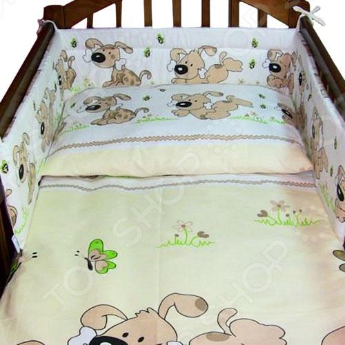 фото Комплект в кроватку Луняшки «Мой дружок», Постельные принадлежности для новорожденных
