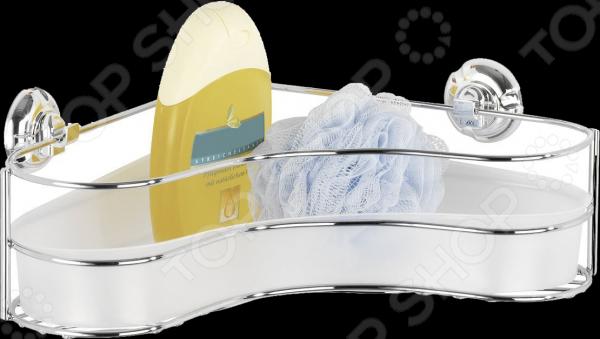 Полка для ванной Wenko 16948100Полки для ванной<br>Полка для ванной Wenko 16948100 угловая - удобная и практичная модель идеально подходит для хранения различных ванных принадлежностей, оставляя свободной раковину и ванну. Благодаря запатентованной системе крепления Super-Loc, которая основана на принципе присоски, полку можно самостоятельно крепить на любые гладкие поверхности и, при необходимости, без последствий демонтировать. Модель выполнена из качественных и прочных материалов, что значительно продлевает срок ее службы.<br>