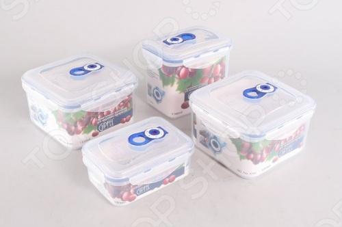 Набор вакуумных контейнеров для продуктов Gipfel ONE TOUCH 4546