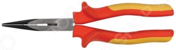 Тонконосы FIT «Электро-2»Кусачки. Пассатижи. Плоскогубцы. Длинногубцы<br>Тонконосы FIT Электро-2 высококачественный инструмент для работы с проводами в труднодоступных местах. Имеет высокую прочность конструкции и приличный внешний вид. Изготовлены из высокоуглеродистой стали. Рукоятки изолированы, изготовлены из пластика и очень эргономичны, поэтому можно работать не напрягаясь.<br>
