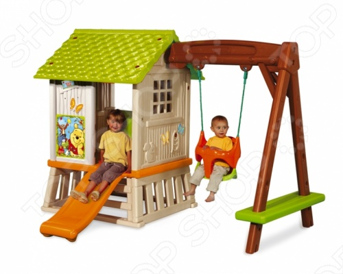 фото Домик с горкой и качелями игровой Smoby Winnie, Игровые домики. Горки. Качели