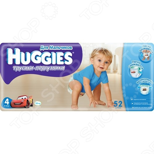 Подгузники-трусики HUGGIES Little Walkers Mega Pack Boy 9-14 кг L 52 шт