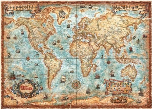 Пазл 3000 элементов Heye «Карта историческая» Rajko ZigicПазлы (1001–3000 элементов)<br>Игра Пазл была изобретена более двухсот лет назад в Англии и с тех пор не теряет своей актуальности, продолжая с каждым годом набирать всю большую и большую популярность у поклонников развивающих игр и головоломок. Объясняется все тем, что собирание пазлов это не просто интересное и увлекательное времяпрепровождение, а возможность самостоятельно создать чудесную картину. Пазл 3000 элементов Heye Карта историческая Rajko Zigic станет прекрасным подарком как для ребенка, так и для взрослого. По утверждениям психологов, собирание головоломки способствует развитию цветового восприятия, мелкой моторики рук, воображения и когнитивного мышления; делает вас более усидчивым, внимательным и организованным. После же, сложенную картину можно склеить с помощью специального клея для пазлов и украсить ею интерьер комнаты. Пазлы изготовлены из плотных материалов; отличаются яркой цветовой гаммой, высоким качеством полиграфии и точной нарезкой деталей, обеспечивающей их хорошую стыковку друг с другом. Размер сложенного изображения 116,5х83,5 см.<br>