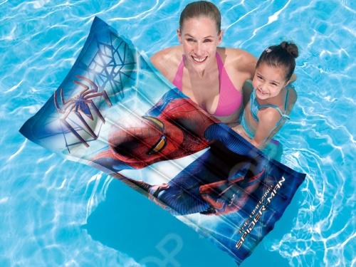 Надувной матрас Bestway Spider Man 98005 bestway надувной пляжный матрас 119х61см принцессы дисней