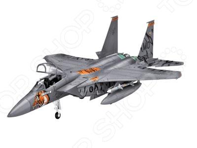 Сборная модель истребителя Revell F-15E EagleАвиамодели<br>Сборная модель F-15E Eagle представляет собой точную копию настоящего военного самолета. Состоит из 62 деталей, которые юный механик должен собрать сам. Во время игры с такой крылатой машиной у ребенка развивается мелкая моторика рук, фантазия и воображение. Американский истребитель-бомбардировщик выпущен известной компанией по производству игрушек Revell. Изготовлен из пластика и обладает потрясающей детализацией. Сборная модель F-15E Eagle является отличным подарком не только ребенку, но и коллекционеру. Клей, кисточка и краски в комплект не входят.<br>