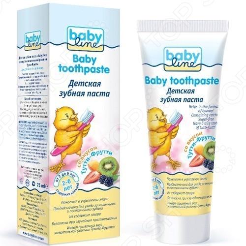 Паста зубная для детей Babyline «Тутти-Фрутти» гигиена полости рта babyline детская зубная паста со вкусом тутти фрутти 75 мл от 2 6 лет