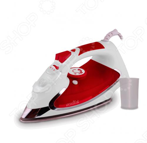 Утюг Smile SI 971Утюги<br>Утюг Smile SI 971 это современный удобный утюг с трехступенчатой регулировкой подачи пара, подошвой из нержавеющей стали, противоскользящим покрытием ручки, антикапельной системой и режимом самоочистки. Резервуар воды на 350 мл. В комплект входит мерный стакан.<br>