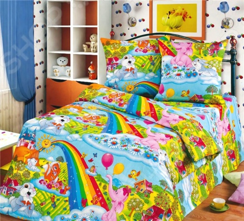 Детский комплект постельного белья Радуга Радуга