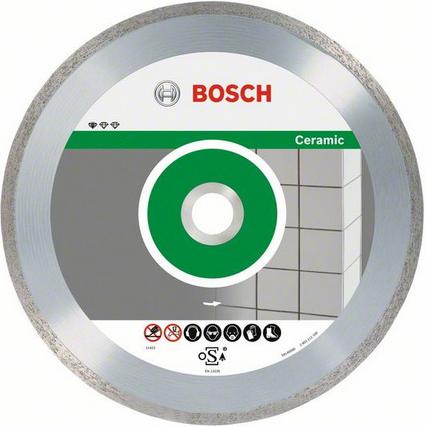 Диск отрезной алмазный для резки плитки Bosch Professional for Ceramic 2608602538 диск отрезной алмазный турбо 115х22 2mm 20006 ottom 115x22 2mm