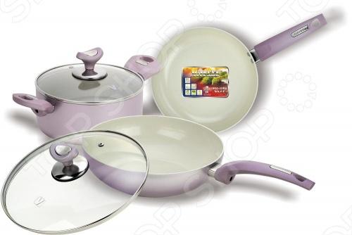 Набор кухонной посуды c внутренним керамическим покрытием Vitesse VS-2224 vitesse vs 2224