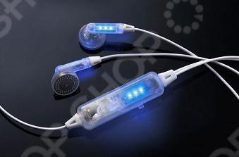 Наушники LED-01 с мигающими светодиодами выделят вас даже в самой многочисленной толпе. Предназначены для iPod, MP3, MP4 и других аудиоплееров. Вы будете выделяться из общей массы любителей музыки! При включении музыки наушники и панель включения подсветки начинают мигать синим цветом в такт музыке. Питание 2 элемента питания типа ZA13HP.