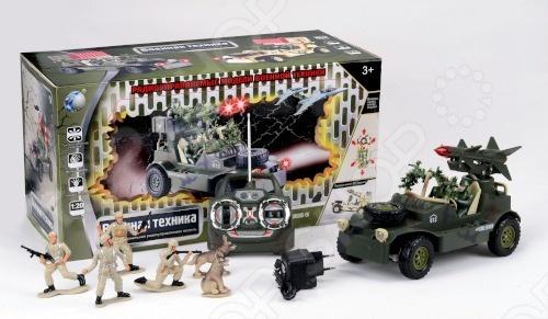 Автомобиль военный радиоуправляемый с набором солдат Tongde В72196Игровые наборы для мальчиков<br>Автомобиль военный радиоуправляемый с набором солдат Tongde В72196 станет прекрасным подарком для любого мальчишки, ведь в его распоряжении окажется не только военный автомобиль, но и взвод солдат. Играть с набором можно как самостоятельно, так и в компании друзей. Игрушка поможет ребенку развить стратегическое мышление, воображение, а также моторику рук и координацию движений.<br>