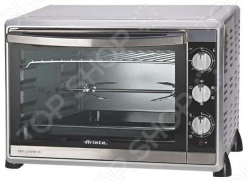 Мини-духовка Ariete 976Настольные мини-печи<br>Мини-духовка Ariete 976 это вместительная, хорошо укомплектованная и функционально оснащённая модель, умеющая творить чудеса прямо на Вашей кухне. Двойное остекление дверцы позволяет ей не нагреваться и не обжечь Вас, когда Вы решите достать приготовленное блюдо. Режимы работы: 1-нижний нагрев; 2-верхний нагрев; 3-верхний и нижний нагрев.<br>