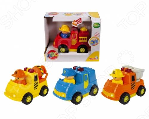 Мини-машинка Simba игрушечная. В ассортименте simba машинка сортер с животными с 12 мес