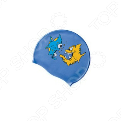 Шапочка для плавания Submarine «Рыбка» шапочка mad wave submarine cap silicone multi m0573 02 0 00w