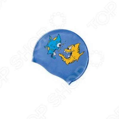 Шапочка для плавания Submarine «Рыбка» шапочка для плавания arena polyester  цвет  темно синий