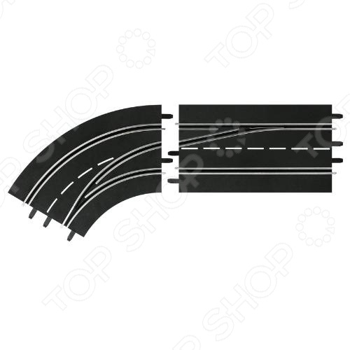Дополнения к треку Carrera «Поворот слева со сменой полосы с внешней на внутреннюю» дополнения к треку carrera прямая с возможностью смены полосы трассы