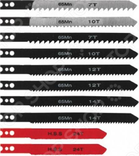 Набор полотен для электролобзика FIT 41147Пилки для лобзиков<br>Набор полотен для электролобзика FIT 41147 - предназначены для резки мягкой и твердой древесины и полимерных материалов, с двухсторонней заточкой зубьев, для быстрой резки. Лезвия выполнены из высококачественного материала.<br>