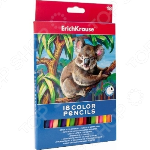 Карандаши цветные Erich Krause 18 цветов 48794