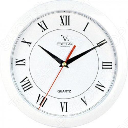 Часы Вега П 1-7/7-47 «Белый кант - » Классика