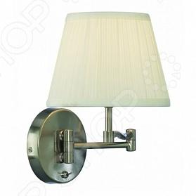 Бра Arte Lamp California заменит люстру или станет дополнительным источником света. Бра так же незаменимо для создания романтической атмосферы. Светильники такого типа могут подойти в дизайн любой квартиры. Оно легко осветит пространство до 3 кв.м. Изящно изогнутый металлический каркас поддерживает текстильный плиссированный плафон белого цвета. Для бра подойдут лампы с цоколем E27 не входят в комплект .