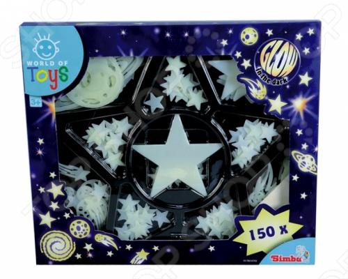 Наклейки-ночнички Simba 7826755 позволят создать для ребенка удивительный и неизведанный мир. Станьте архитектором собственной звездной системы маленького космического исследователя, собирая звезды в созвездия. Светящиеся в темноте наклейки будут дарить малышу только яркие сны.