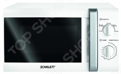Микроволновую печь Scarlett SC-2007 отличает стильный дизайн и простота использования. Таймер со звуковым сигналом на 35 минут. Эргономичная ручка. Функция размораживания. Печь легко мыть и чистить.