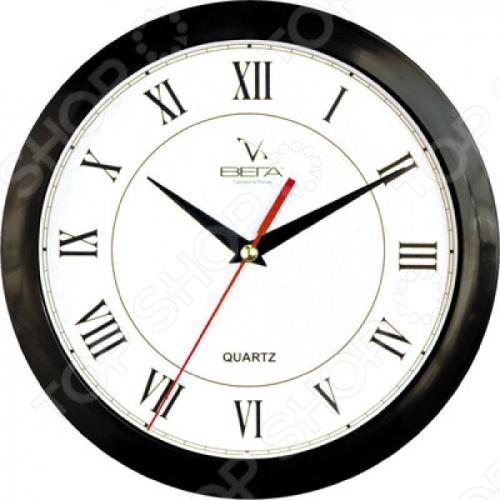Часы Вега П 1-6/6-47 «Черный кант - Римские» Классика