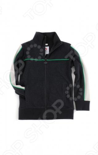 Куртка спортивная для мальчика Appaman Track Jacket. Цвет: черный
