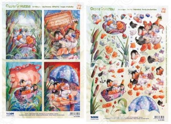 фото Аппликация вырубная и фон для рисунков Reddy Creative Cards «Утки» №4, купить, цена