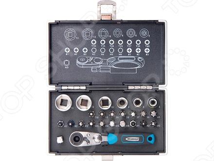 Набор бит и головок торцевых с магнитным адаптером GROSS в кейсеНаборы инструментов<br>Набор бит и головок торцевых с магнитным адаптером GROSS в кейсе замечательно пдойдёт для выполнения любого вида работ. Набор упакован в двойной блистер, который позволяющий видеть содержимое, что обеспечивает быстрый доступ к инструменту, плюс удобно для хранения и перемещения.<br>