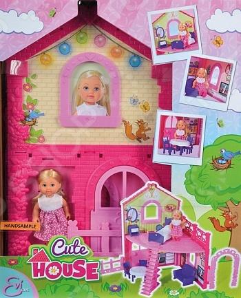 Кукла с аксессуарами Simba «Еви в двухэтажном доме»Куклы<br>Кукла с аксессуарами Simba Еви в двухэтажном доме понравится любой девочке. Кукла это интересная и полезная игрушка для любой девочки. Такая игрушка оставляет простор для фантазий ребенка, дает возможность самостоятельно придумывать новые игры и с помощью таких игр адаптироваться в реальном мире. Эта кукла надолго станет настоящим другом вашему ребенку. Еви будет очень удобно жить в двухэтажном домике. В нем есть все необходимое для комфортной жизни: обеденный стол и два стула, кресло и кровать с тумбочкой. Высота домика 38 сантиметров. А еще в комплект входит одежда для маленькой Еви.<br>