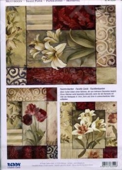 фото Аппликация вырубная для объемных рисунков Reddy Creative Cards «Лилия, роза и орнаменты», купить, цена