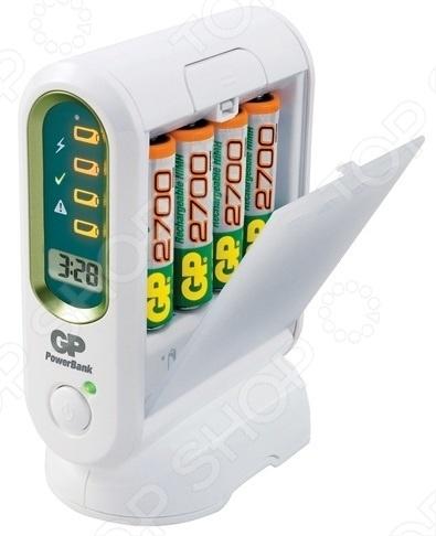 Устройство зарядное GP Batteries PB80GS270SA-U4 универсальное зарядное устройство gp batteries для аккумуляторов типа аа ааа с d крона 9v