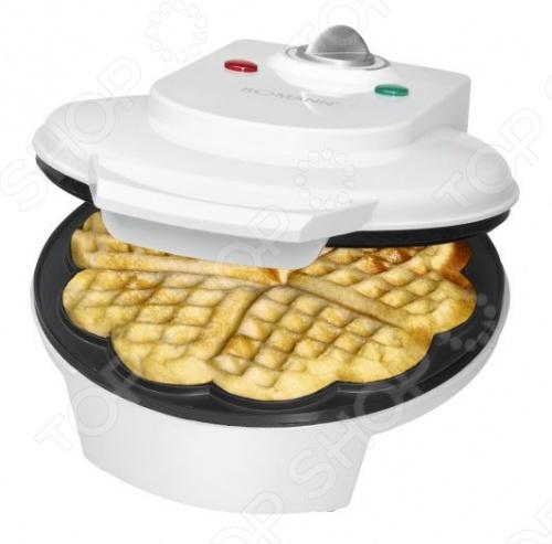 Вафельница Bomann WA 5018 CB приготовит для вас толстые бельгийские вафли. Наливаете тесто в форму и через 4-5 минут изделие готово. Форма рассчитана на 5 вафель. Намазав готовые изделия вареньем или посыпав их сахарной пудрой, вы получите вкуснейшие десерты. За счет антипригарного покрытия форм, тесто не прилипает к поверхности, а сам прибор не доставит сложностей при мытье. Устройство оснащено ненагревающимися ручками, так что вы сможете безопасно извлечь готовые вафли. Вафельница Bomann WA 5018 CB выпекает изделия в форме сердечек, так что вафли станут настоящим украшением праздничного стола. Благодаря защите от перегрева прибор послужит вам долго. Плавная регулировка термостата позволяет добиться необходимой степени поджаривания, а два световых индикатора помогут следить за приготовлением. Благодаря верхнему и нижнему нагревательному элементу вафли равномерно прожариваются с обеих сторон.
