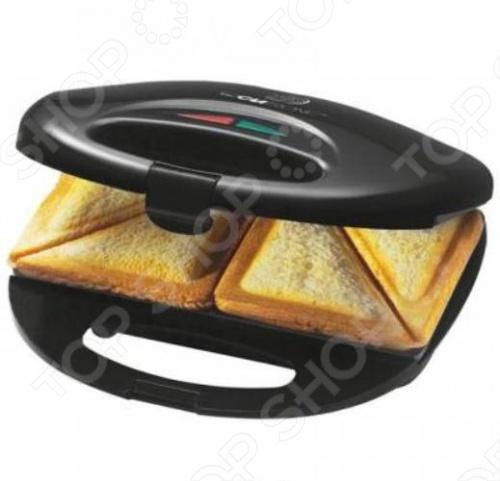 Сэндвичница Clatronic ST 3477 порадует аппетитными и горячими сэндвичами. В устройстве четыре секции для квадратных кусков тостового хлеба, разрезанных по диагонали. Положите между ломтиками хлеба любимую начинку, поместите сэндвичи в аппарат. За считанные минуты все будет готово. Внутри используется антипригарное покрытие, ручка изолирована от нагрева. Терморегулятор автоматического типа. Есть защита от перегрева.