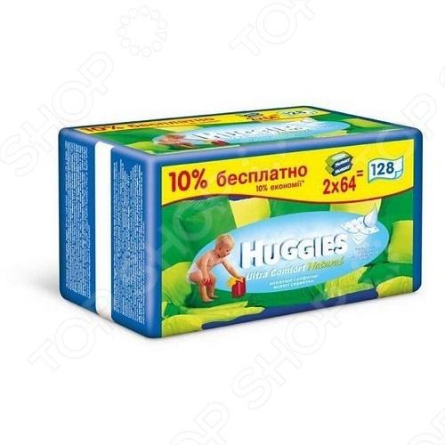 Салфетки влажные - сменный блок Huggies Comfort Natural мерриес салфетки влажные 0 54шт сменный блок