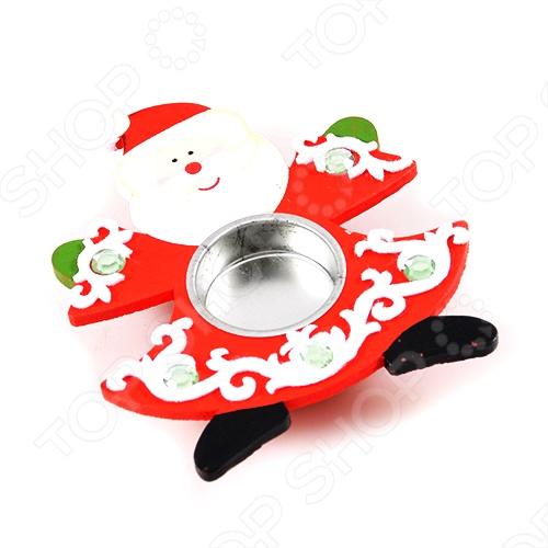 Подсвечник Дед морозСвечи. Подсвечники<br>Веселый Дед Мороз в расписной красной шубке будет радовать вас в новогоднюю ночь светом 6 свечей и достойно украсит интерьер.<br>