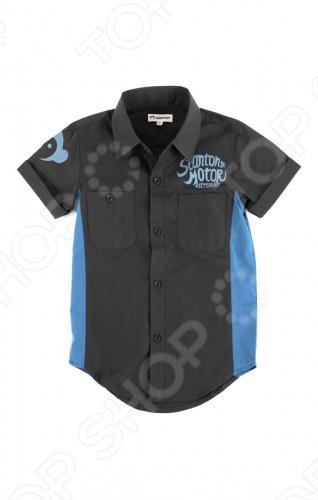 Рубашка с коротким рукавом Appaman Harald Shirt. Цвет: серый