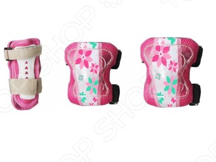 Защита роликовая Larsen P10 Flower защита колена larsen 7706