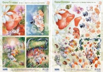 фото Аппликация вырубная и фон для рисунков Reddy Creative Cards «Утки» №6, купить, цена