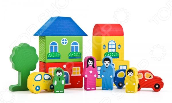 Конструктор для малышей Томик «Цветной городок» конструктор для малышей томик веселый городок