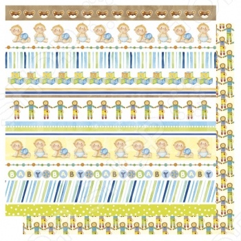 Бумага для скрапбукинга Rayher «Мальчик + кайма» бумага пергаментная rayher счастливого рождества