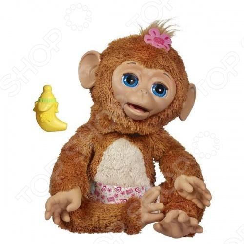 фото Игрушка интерактивная детская FurRealFrends Обезьянка смешливая, купить, цена