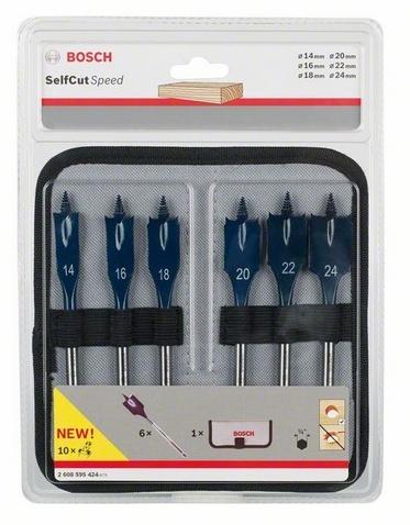 Набор сверл перьевых Bosch Self Cut Speed  набор сверл по дереву bosch 5 шт