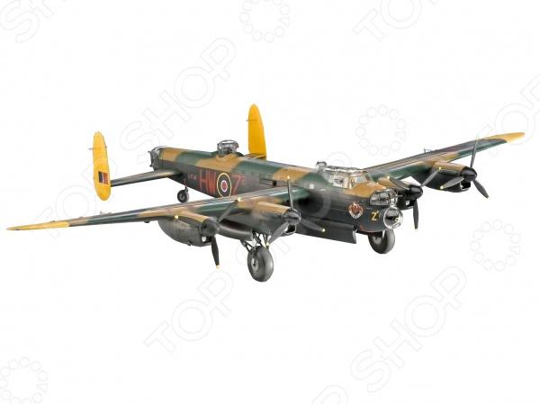 Сборная модель самолета Revell Avro Lancaster Mk. I/IIАвиамодели<br>Сборная модель Avro Lancaster Mk. I II представляет собой точную копию настоящего военного самолета. Состоит из 257 деталей, которые юный механик должен собрать сам. Во время игры с такой крылатой машиной у ребенка развивается мелкая моторика рук, фантазия и воображение. Британский бомбардировщик выпущен известной компанией по производству игрушек Revell. Изготовлен из пластика и обладает потрясающей детализацией. Сборная модель Avro Lancaster Mk. I II является отличным подарком не только ребенку, но и коллекционеру. Клей, кисточка и краски в комплект не входят.<br>